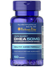 Puritan's Pride DHEA 50mg 50 Tablets Building Muscle Burning Fat MADE IN USA