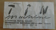 TICKET COLLECTION TIN MACHINE GROUPE DAVID BOWIE CONCERT LIVERPOOL 1991 MUSIC