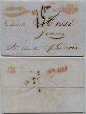 """PREFILATELICA Civitavecchia """"Via di Mare E"""" 27.8.1832 tassata a penna di 15 cent"""