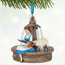 DISNEY 2016 BEAUTY AND THE BEAST BELLE SINGING ORNAMENT NEW IN BOX