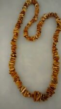 Vintage rough baltic egg yolk butterscotch amber  necklace 29 inches long
