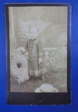 Vintage Cabinet Photo Little Girl in Forest Scene