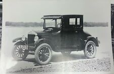 "12 By 18"" Black & White Picture Model T 3/4 view water scene faded print"