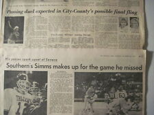 Louisville Courier Journal, 1974 Phil Sims- Southern H.S. KY Articles N Y Giants