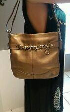 Coach Leather Chain Duffle / Cross Body/ Shoulder Bag Bronze F19722 NWOT!