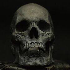 Into The Fire Jewelry - Skull Ring Mid-Full jaw silver mens ring skull biker