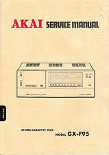 Service Manual-Anleitung für Akai GX-F95