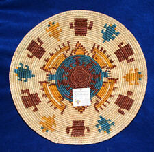 "Large Basket Finely Handwoven Collectible Decorative Southwestern 13x2"" NEW #22"