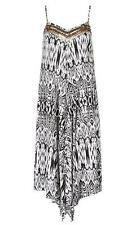 WOMENS NEW SIZE 8-12  CRAFTED EMBELLISHED HANKY MAXI DRESS MUST SEE