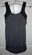 Womens Lululemon Gray Run For Your Life Athletic Tank Top Size 4