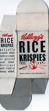 """Vintage Kellogg's Rice Krispies 2"""" Sample Cereal Box"""