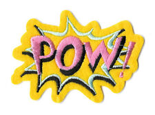 POW - Cartoon Text - Exclamation - Word - Pink -  Iron On Applique Patch