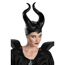 MALEFICENT DELUXE HEADPIECE Hat Horns Costume Disney Licensed Evil Queen Jolie