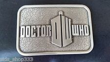* DOCTOR WHO Sliver Color Logo Belt Buckle collectible desktop Showpiece cosplay