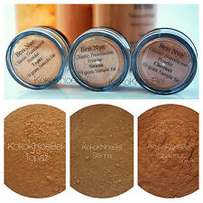 3Pc. Sample | Ben Nye Translucent Powder 10gm Jars| TOPAZ, SIENNA & CHESTNUT
