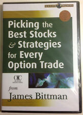 PICKING THE BEST STOCKS & STRATEGIES FOR EVERY OPTION TRADE by James Bittman DVD