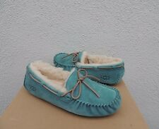 UGG DAKOTA ATLANTIC SUEDE/ SHEEPSKIN MOCCASIN SLIPPERS, US 9/ EUR 40 ~ NIB