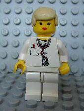 LEGO Girl Female Doctor Nurse White Torso and Legs Short Blond Hair