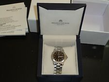 MAURICE LACROIX TIAGO 69820 SAPPHIRE CRYSTAL STAINLESS STEEL DATE WATCH W/ BOX!
