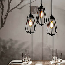 Modern Design Industrial DIY Metal Ceiling Lamp Light Pendant Edison Bulb Black