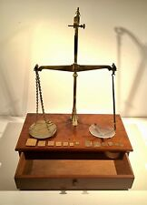 Antique Apothecary Chemist Balance Scales & Weights Travelling Box Philip Harris