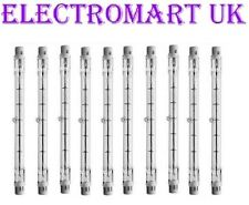 10 X 500W TUNGSTEN HALOGEN DOUBLE ENDED LAMP BULB 118MM