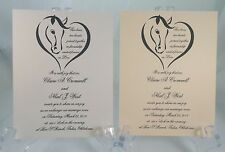 50 UNIQUE HORSES AND HEARTS WEDDING INVITATIONS CUSTOMIZE AND PERSONALIZE 4 U