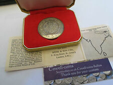 BHUTAN 1966 3 RUPEE PROOF SILVER RARE VERY LOW MINTAGE 2,000 IN ORIGINAL BOX