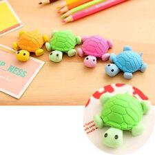 4 bunte Radiergummi Miniatur Schildkröte Form Gummi Sehr kreatives Briefpapier