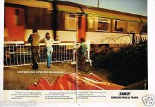 Publicité advertising 1976 (2 pages) Train SNCF