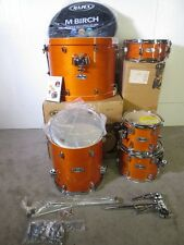 Mapex M Series 5 Piece Kit - Transparent Honey Amber Lacquer - Birch - 14 Floor