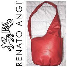 Renato Angi Vionetti RARE Designer Red Crossbody Purse Travel Bag
