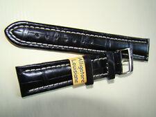 Cinturino in VERO ALLIGATORE, ansa 20 mm colore NERO- made Italy - strap watch