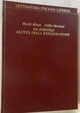 DA FOSCOLO ALL ETA DELLA RESTAURAZIONE Nicolo Mineo Attilio Marinari Letteratura