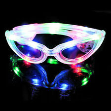 New LED Light Up Sunglasses Shades Flashing Blink Glow Glasses Party Rave SG