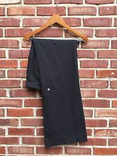 Lululemon Still Pants Flared Leg Drawstring Pants Pockets Black Luon 8 CLASSIC*