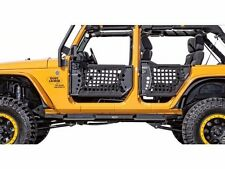 Body Armor Complete Set of 4 Trail Doors and 2 Trail Mirrors 07-16 Jeep JK U 4dr