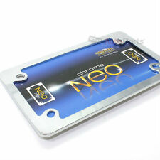 Neo Chrome Metal License Plate Tag Frame for Motorcycle/Scooter/Chopper/Bike