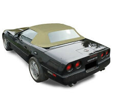 Chevy Corvette 1986-1993 Convertible Soft Top With Plastic Window Tan Stayfast