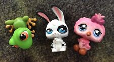 LITTLEST PET SHOP LOT, 407 Green Frog, 496 Pink Owl, P1 Long Ear Bunny Mixed Bag