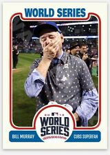 2016 Bill Murray Chicago Cubs World Series Champions Baseball Card No Goats