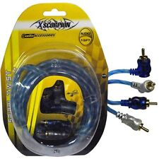 Xscorpion STP15 RCA Cable 15' Right Angle Blue/Platinum Twisted