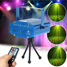 Mini R&G LED Laser Stage Lighting Projector DJ Disco Party w Remote Control