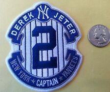 New York Yankees Derek Jeter #2 Captain RETIREMENT Embroidered Iron On Patch A1