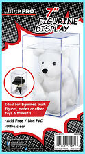 "ULTRA PRO 7"" FIGURINE DISPLAY CASE Clear Hard Plastic Storage Beanie Baby Toy"
