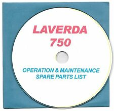 Laverda 750 motorcycle owner's manual, PDF scans on CD-ROM