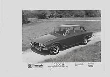"""TRIUMPH 2500 """"stampa foto per maggio 1975"""" opuscolo connesso """""""