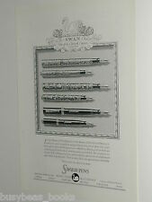 1929 Swan Pen advertisement, Fountain Pens, London