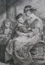 Gravure XIXème - La Famille de Rubens - Rubens - Jac. Schmuzer - Gianni