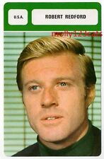 American  Actor Director Producer Film Star Robert Redford French Trade Card
